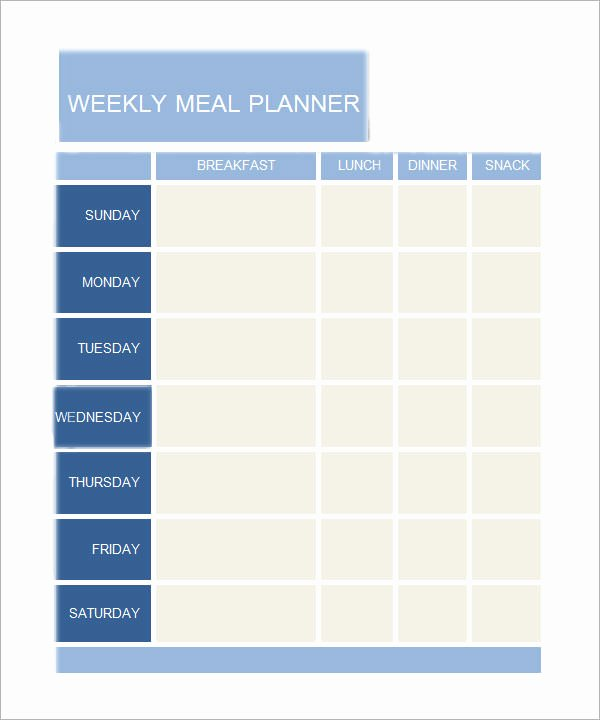 Weekly Meal Planner Template Word Beautiful Daily Planner Template 7 Download Documents In Pdf Word