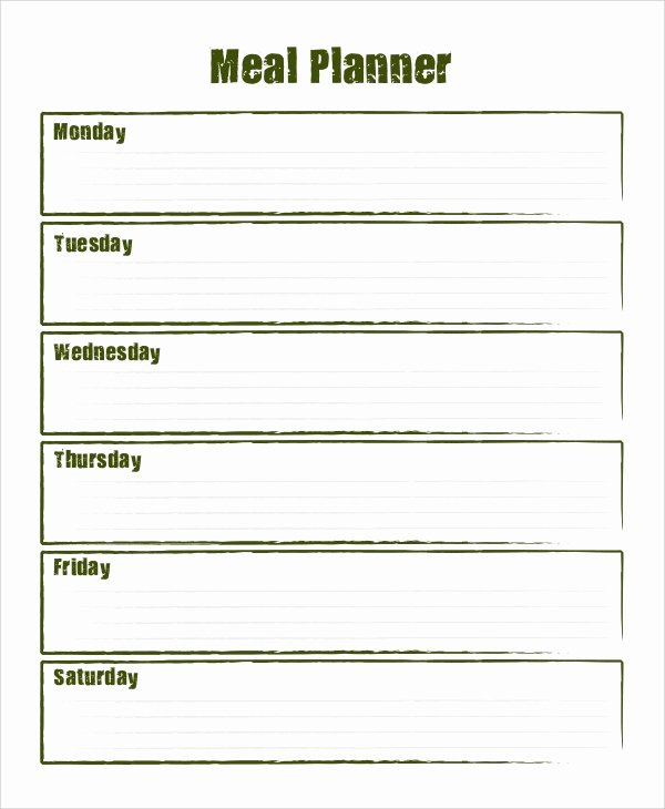 Weekly Meal Planner Template Word Beautiful Sample Meal Planning 7 Documents In Word Pdf
