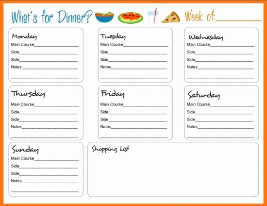 Weekly Meal Planner Template Word Inspirational Best 25 Meal Planning Templates Ideas On Pinterest