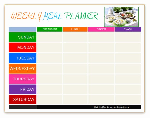 Weekly Meal Planner Template Word Lovely Pin Word Templates Daily Planner Templates