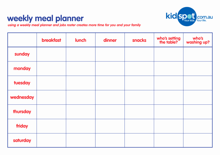 Weekly Meal Planner Template Word Luxury Meal Planner Template Sample Menu Printable Daily Pdf