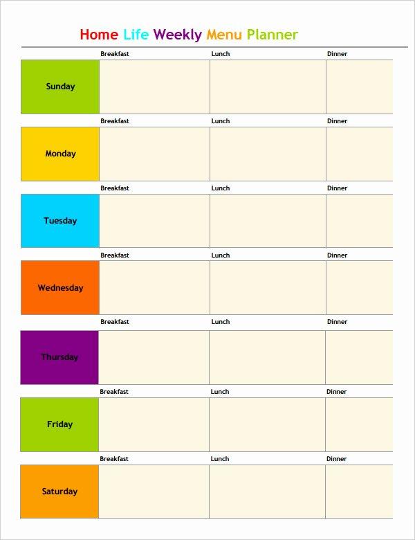 Weekly Meal Planner Template Word Luxury Weekly Meal Planner Template Word