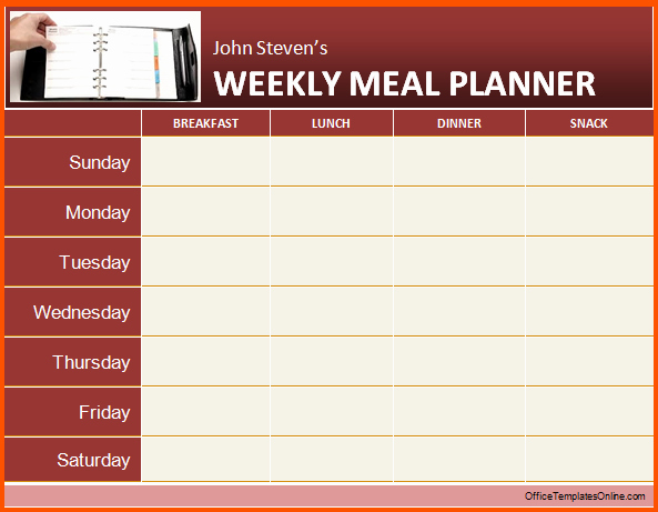 Weekly Meal Planner Template Word New 12 Daily Planner Template Word