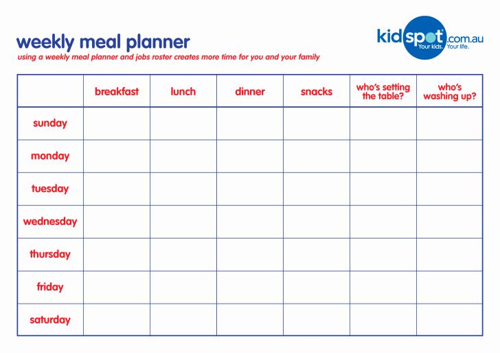 Weekly Meal Planner Template Word New Meal Planner Template Sample Menu Printable Daily Pdf