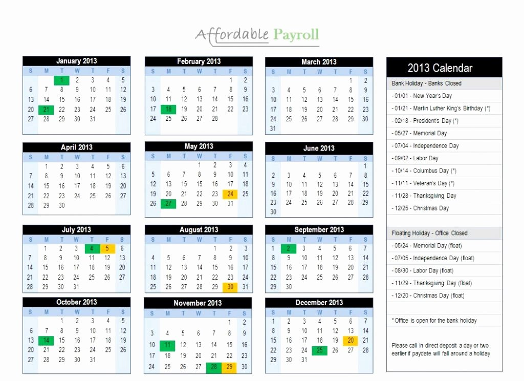 Weekly Payroll Calendar 2019 New Beautiful 35 Design Bi Weekly Calendar 2019
