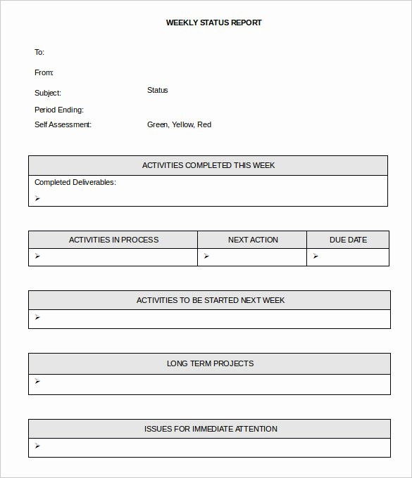 Weekly Project Status Report Template Excel Best Of 36 Weekly Activity Report Templates Pdf Doc