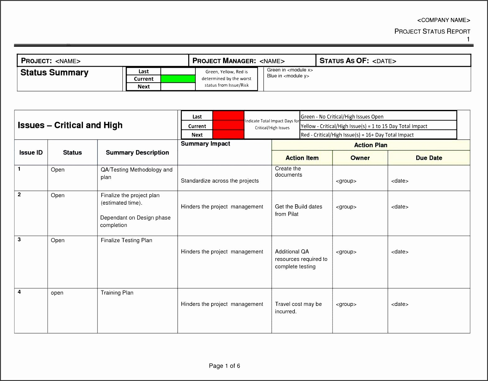 Weekly Project Status Report Template Excel Unique 4 Weekly Status Report Templates Sampletemplatess