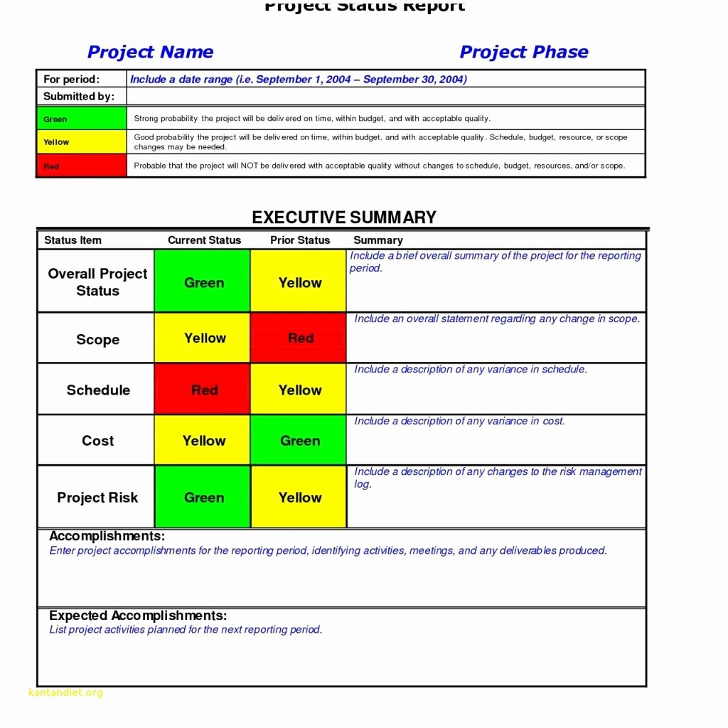 Weekly Project Status Report Template Excel Unique Project Report Template Doc – Printable Schedule Template