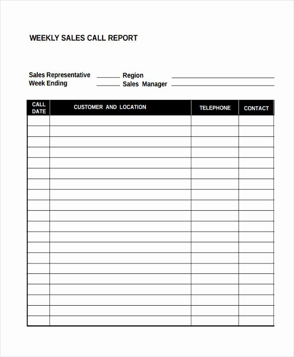 Weekly Sales Report Template Awesome 36 Sales Report Examples & Samples Pdf Word Pages