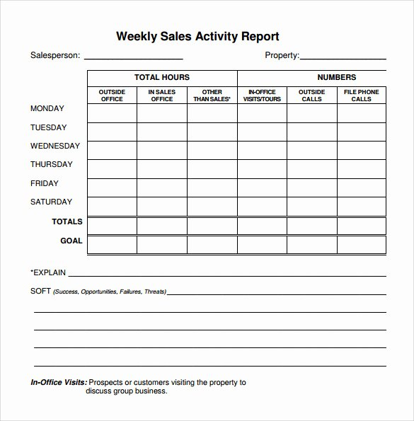 Weekly Sales Report Template Best Of 26 Sample Weekly Report Templates Docs Pdf Word Pages