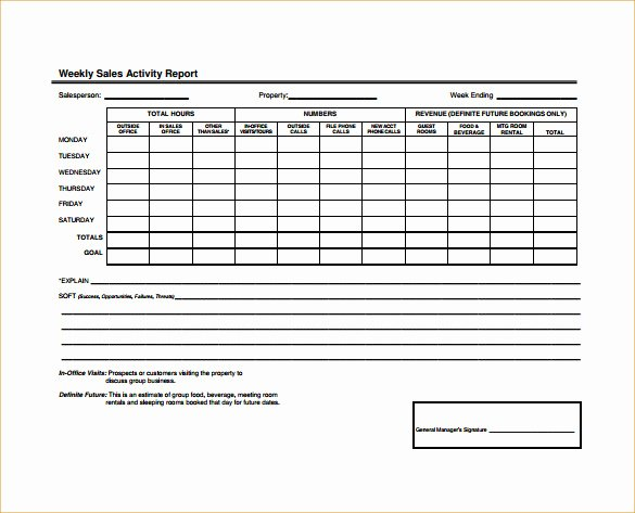 Weekly Sales Report Template New 27 Sales Activity Report Templates Word Excel Pdf