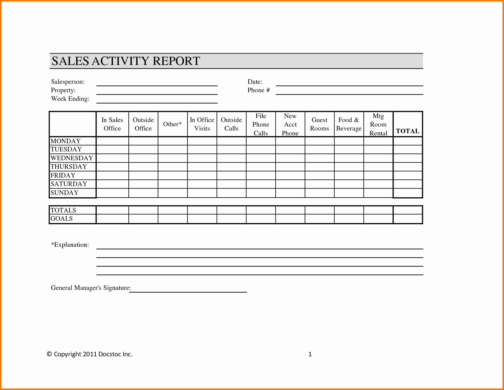 Weekly Sales Report Template Unique 29 Of Call Report Template Monthly