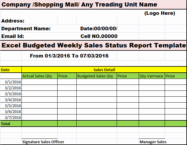 Weekly Sales Report Template Unique Bud Weekly Sales My Reports Writing Designs