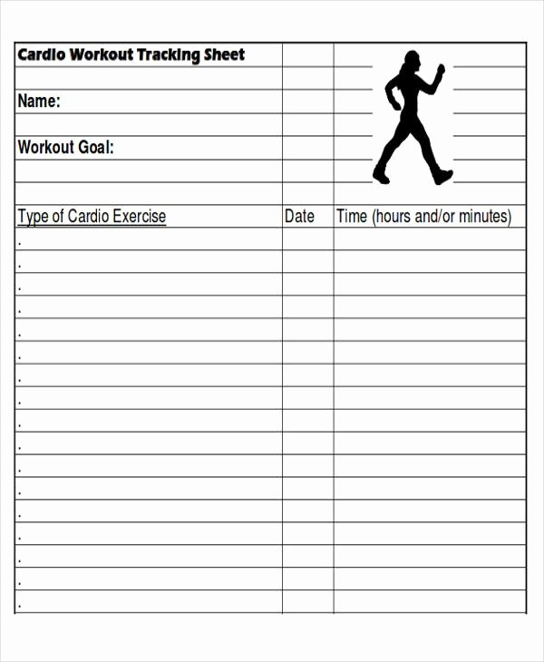Weight Lifting Tracking Sheet Awesome 6 Sample Workout Tracking Sheets