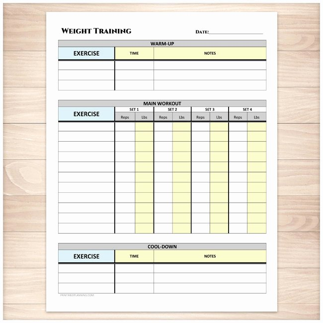 Weight Lifting Tracking Sheet Awesome Printable Weight Training Daily Log Workout Tracking Sheet