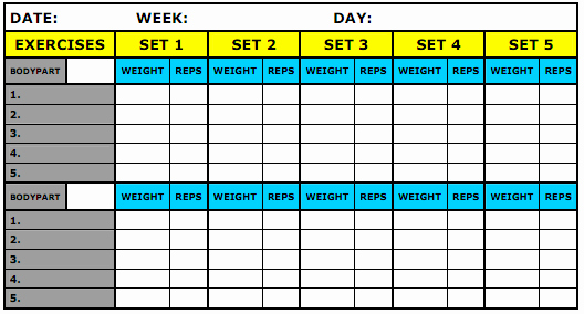 Weight Lifting Tracking Sheet Awesome What Should Be Recorded In My Workout Journal Physical