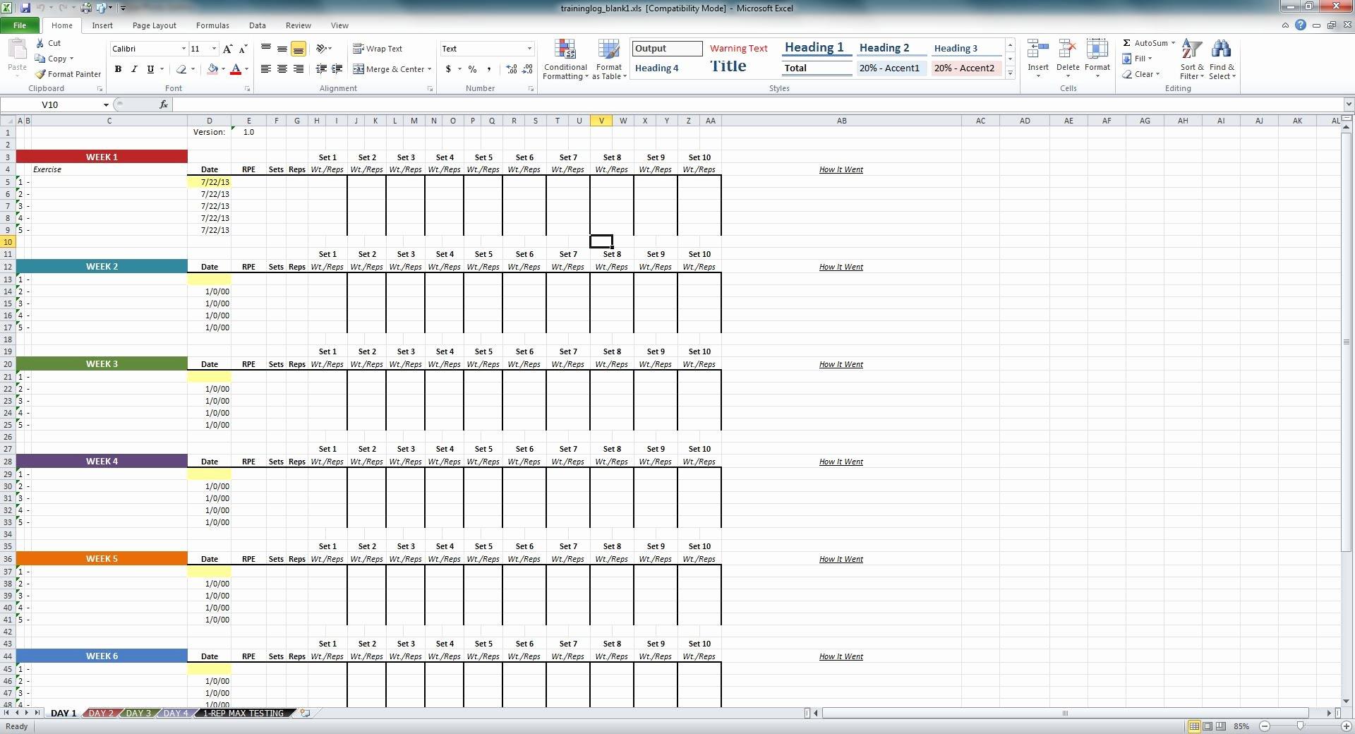 Weight Lifting Tracking Sheet Elegant Niel K Patel Download Training Log Spreadsheet