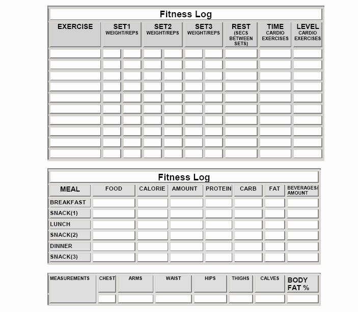 Weight Lifting Tracking Sheet Lovely Fitness Logs
