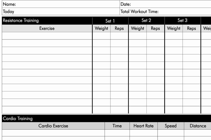 Weight Lifting Tracking Sheet Lovely Free Weight Lifting Charts