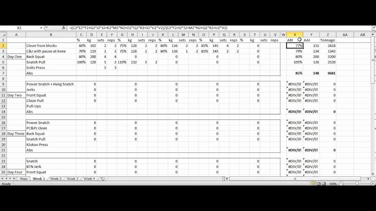Weight Lifting Tracking Sheet Luxury Rumbler Weightlifting Programming Spreadsheet