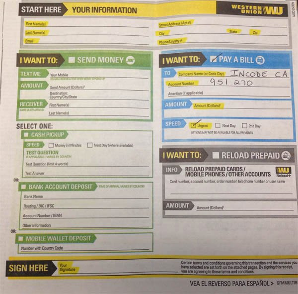 Western Union Fake Receipt Generator Fresh Western Union Money order Customer Request form