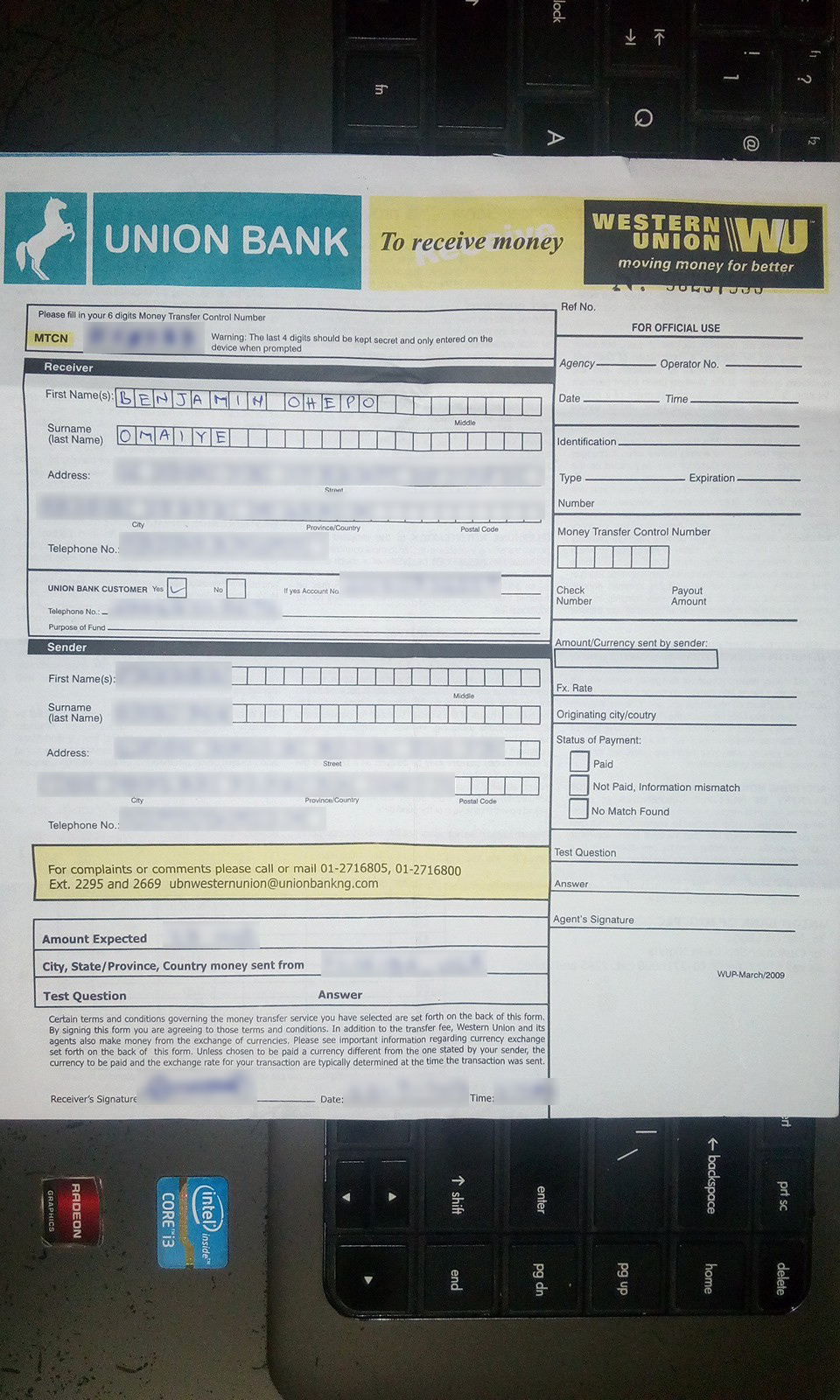 Western Union Fake Receipt Generator Inspirational Western Union form to Send Money Pdf Iwantings