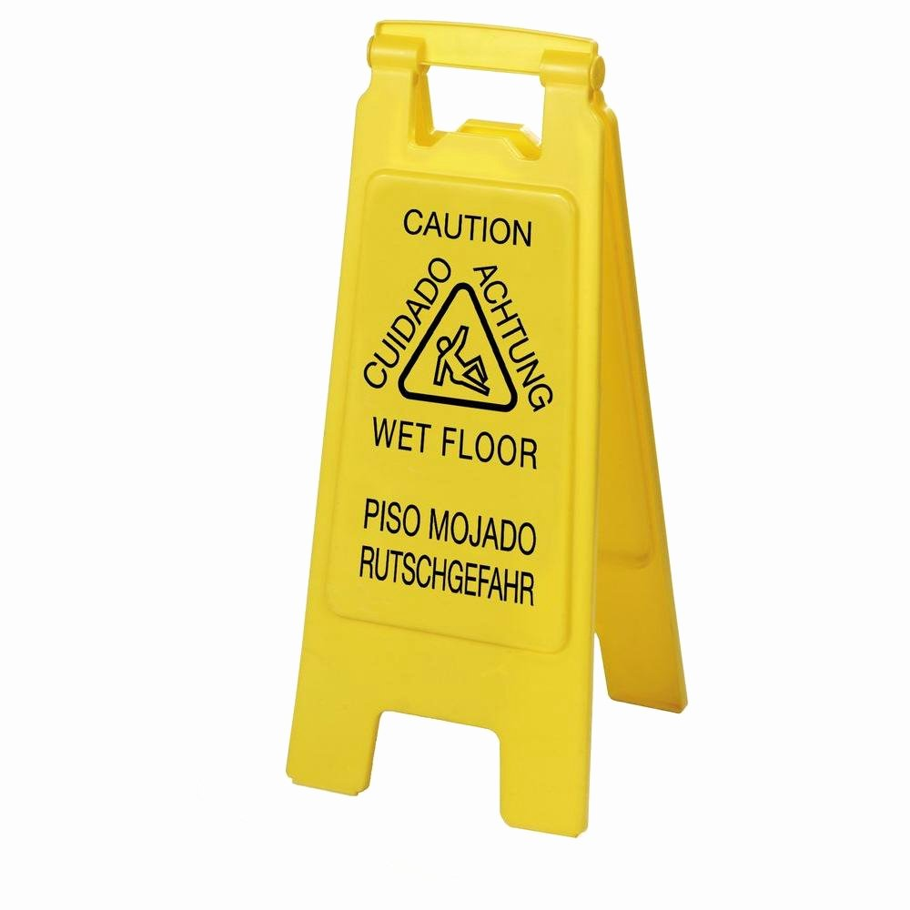 Wet Floor Signs Printable Awesome Carlisle English Spanish German Yellow Wet Floor Sign 6