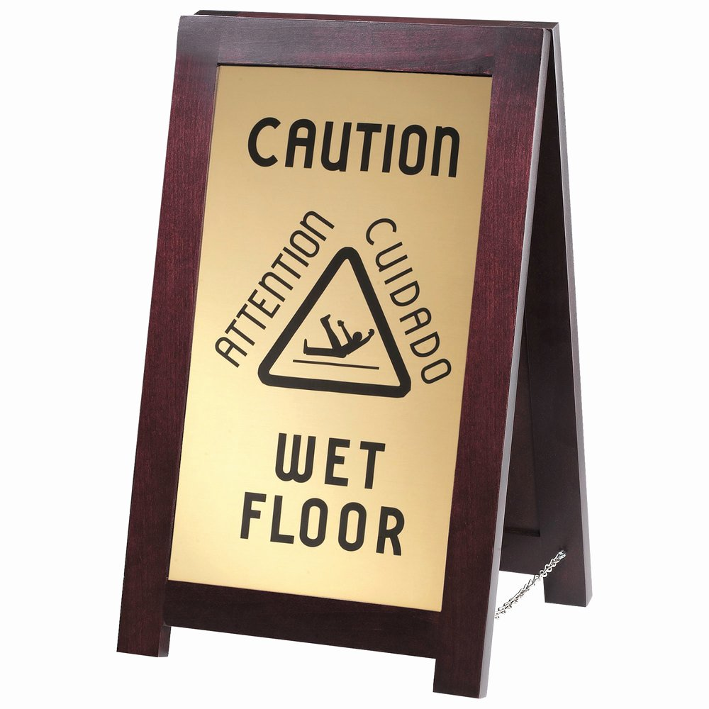 Wet Floor Signs Printable Beautiful Cal Mil 851 Wet 2 Sided Wooden Wet Floor Sign