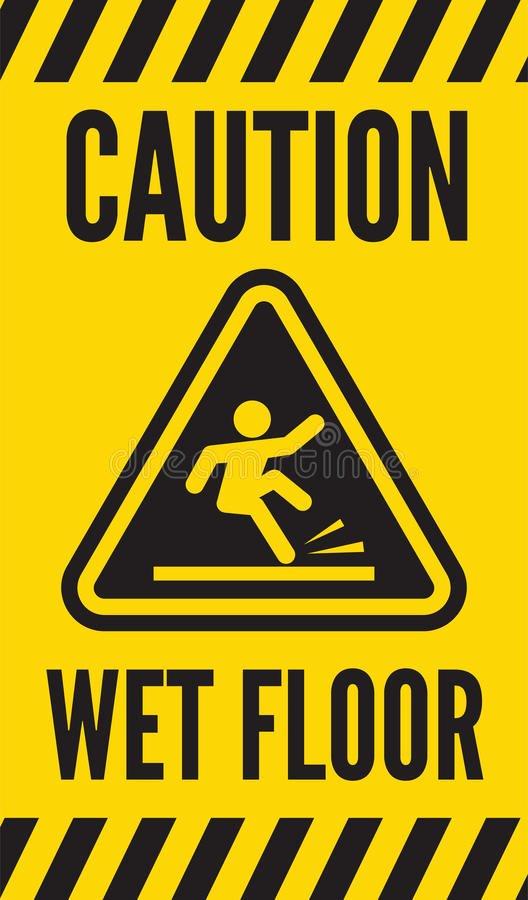 Wet Floor Signs Printable Fresh Caution Wet Floor Stock Vector Illustration Of Beware
