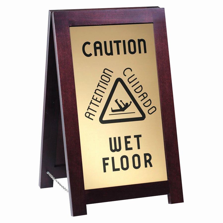 Wet Floor Signs Printable Lovely Cal Mil 851 Wet Wet Floor Wooden Sign