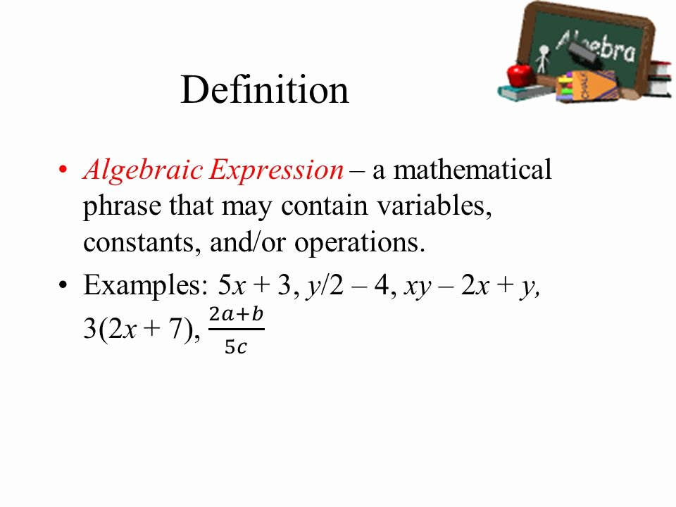 What is the Definition Of Impressive Lovely Algebra Expression Definition