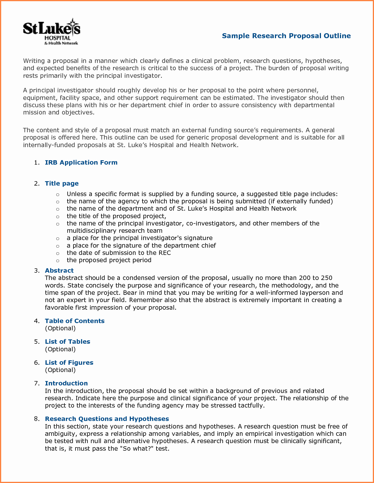 White Paper Outline Template Awesome 5 Science Proposal format