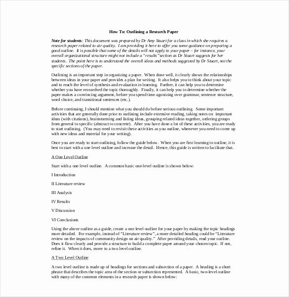 White Paper Outline Template Best Of Tentative Outline for Research Paper Example