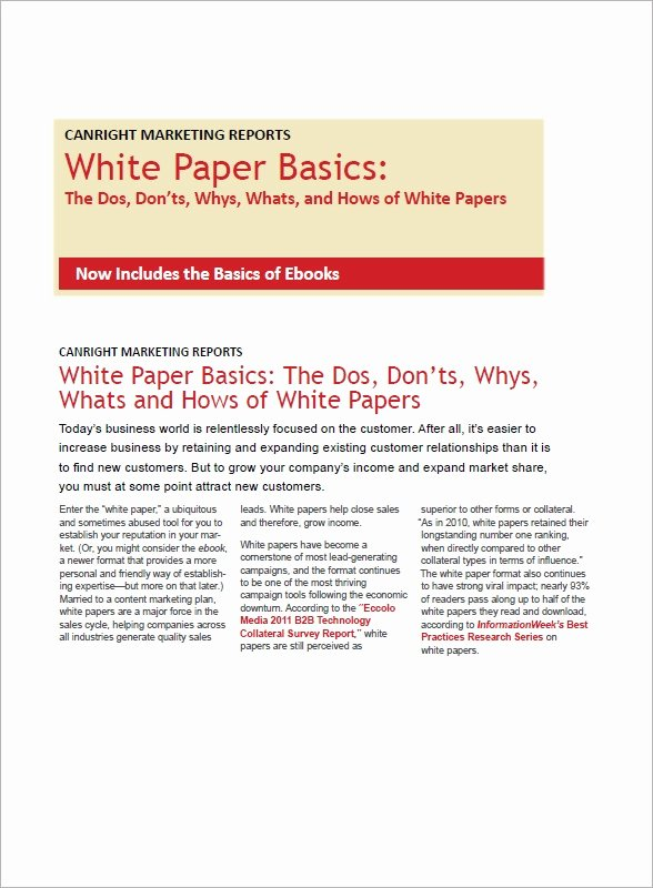 White Paper Outline Template Lovely 13 White Paper Templates – Pdf Word