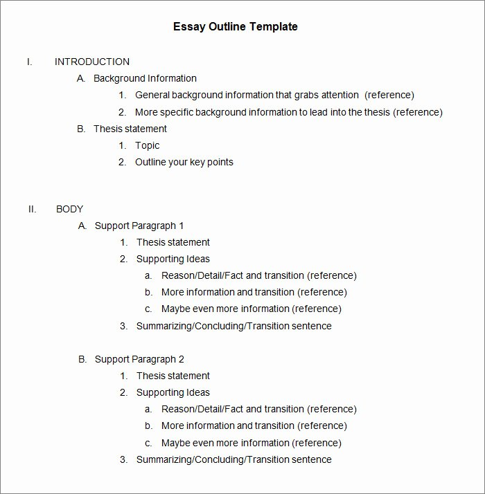 White Paper Outline Template Lovely Essay Outline Example
