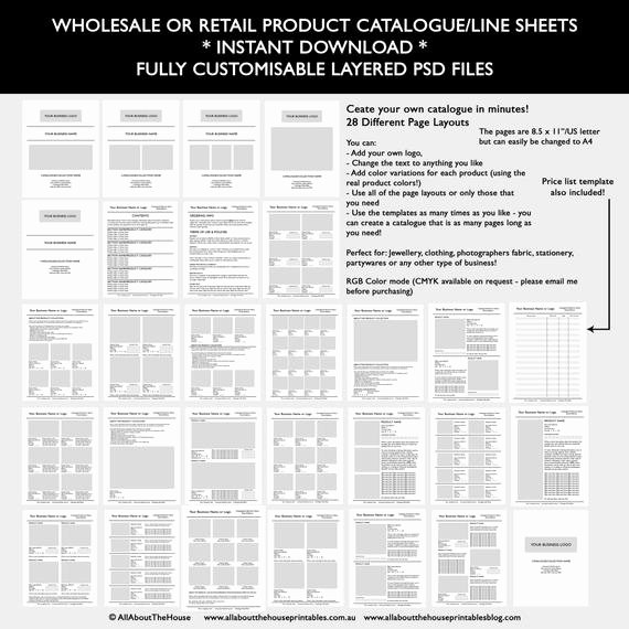 Wholesale Price List Template Best Of Catalogue Template wholesale Retail Pricing Product Line