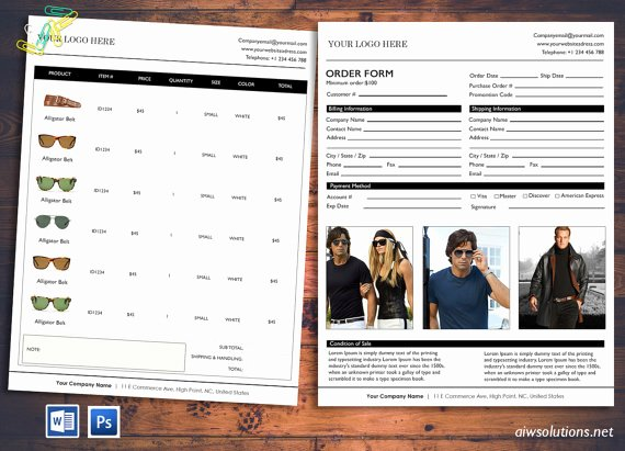 Wholesale Price List Template Lovely Price Sheet order form Template Cover order form