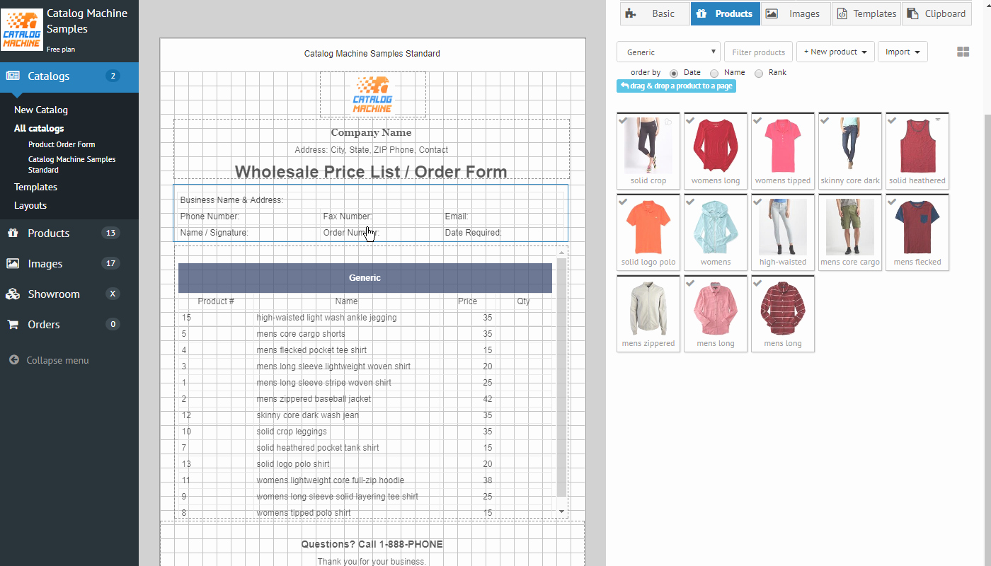Wholesale Price List Template Luxury Product order forms Easily Create order forms & Catalogs