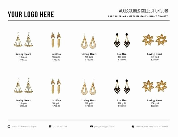 Wholesale Price Sheet Template Luxury wholesale Line Sheet Template Line Sheet by Cityhousedesign