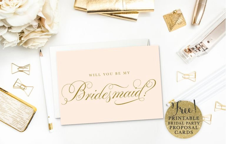 Will You Be My Bridesmaid Letter Template Lovely 19 Free Printable Will You Be My Bridesmaid Cards