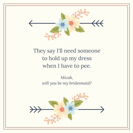 Will You Be My Bridesmaid Letter Template New Customize 53 Be My Bridesmaid Invitation Templates Online