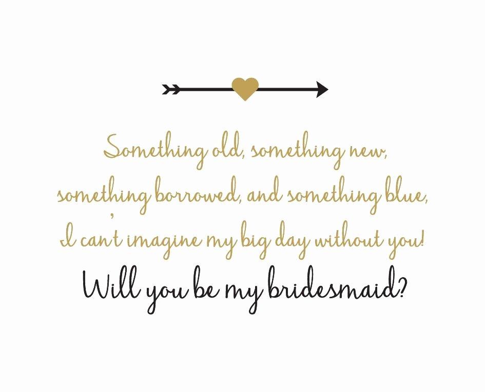 Will You Be My Bridesmaid Letter Template New the Bridesmaid Proposal Give Her A Gift She Can T Resist