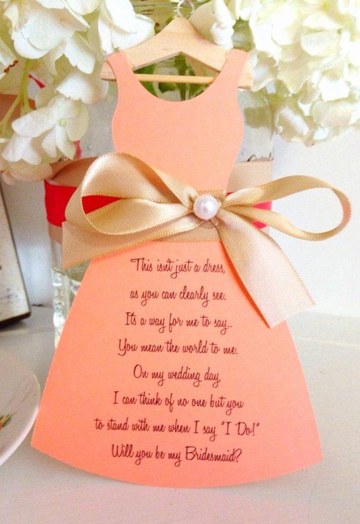 Will You Be My Bridesmaid Letter Template Unique La Demande Témoin Mariage 55 Idées Qui Vont Vous Charmer