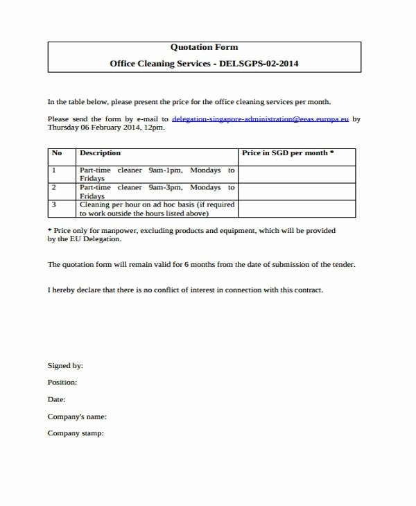 Window Cleaning Quote Template Best Of Cleaning Quotation