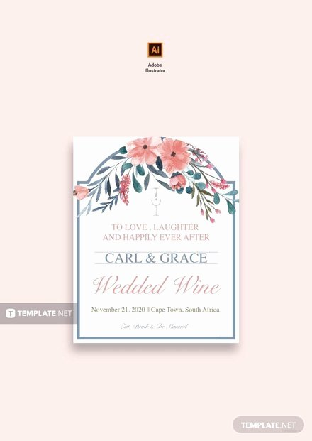 Wine Label Template Photoshop Awesome Free Beach Wedding Wine Label Template In Adobe Shop