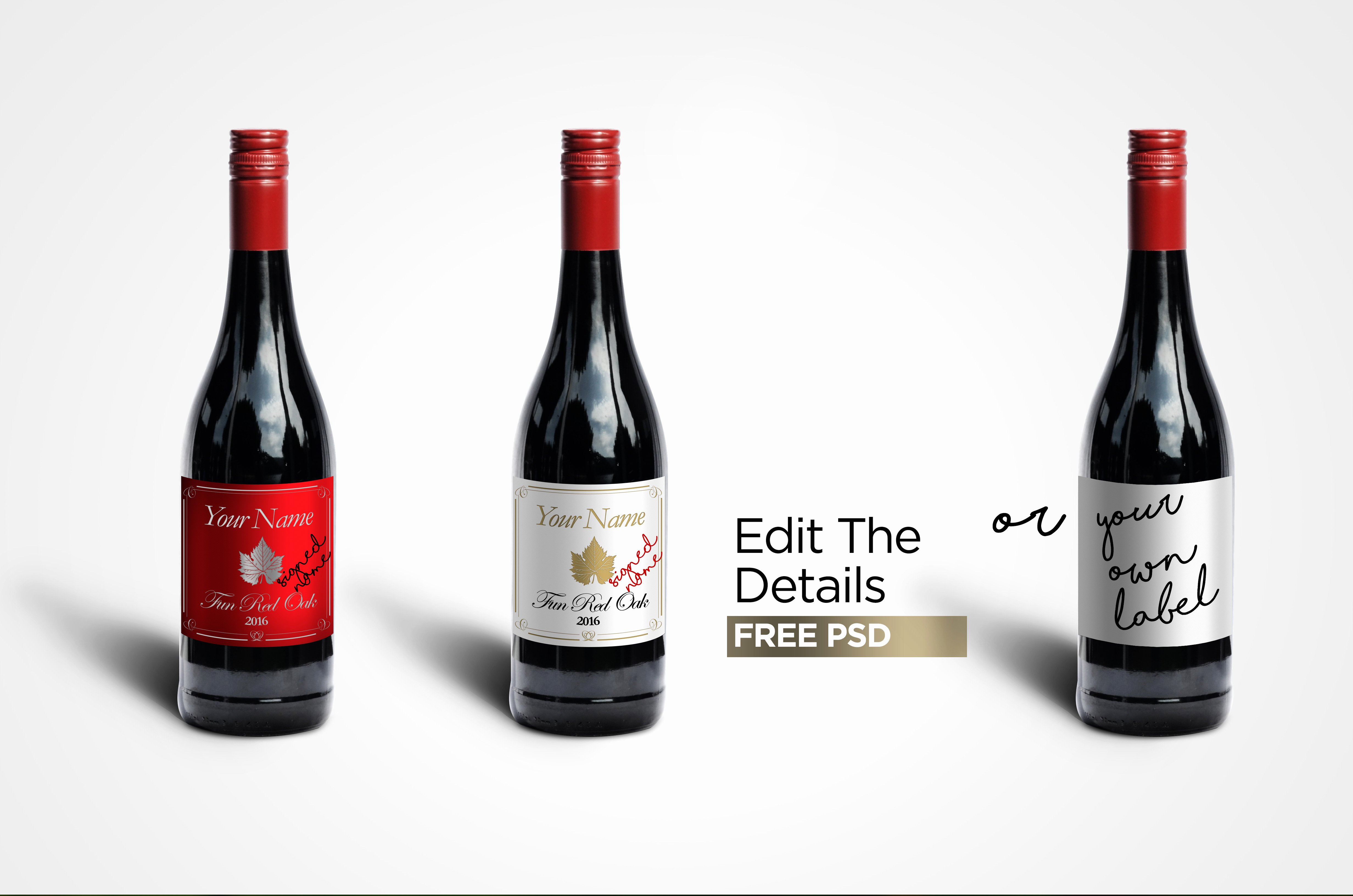 Wine Label Template Photoshop Awesome Free Wine Label Mock Up Layered Shop Psd