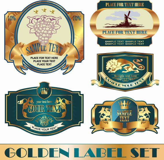 Wine Label Template Photoshop Lovely Free Vector Wine Labels Collection Free Vector
