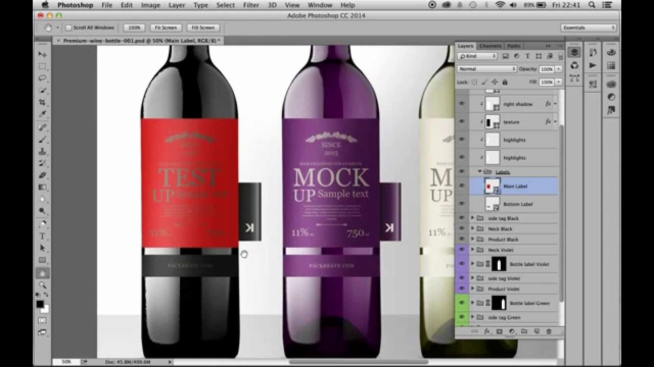 Wine Label Template Photoshop Luxury Premium Wine Bottles with Tag Psd Mockup