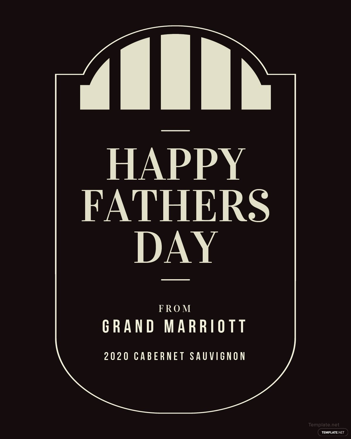 Wine Label Template Photoshop New Free Fathers Day Wine Label Template In Psd Ms Word