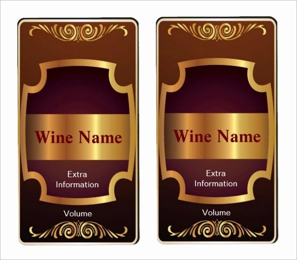 Wine Label Template Photoshop New Wine Label Template